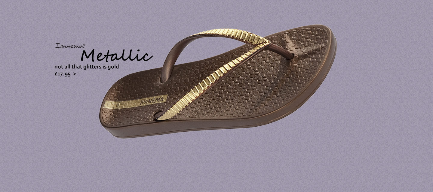 Ipanema Metallic flip flops