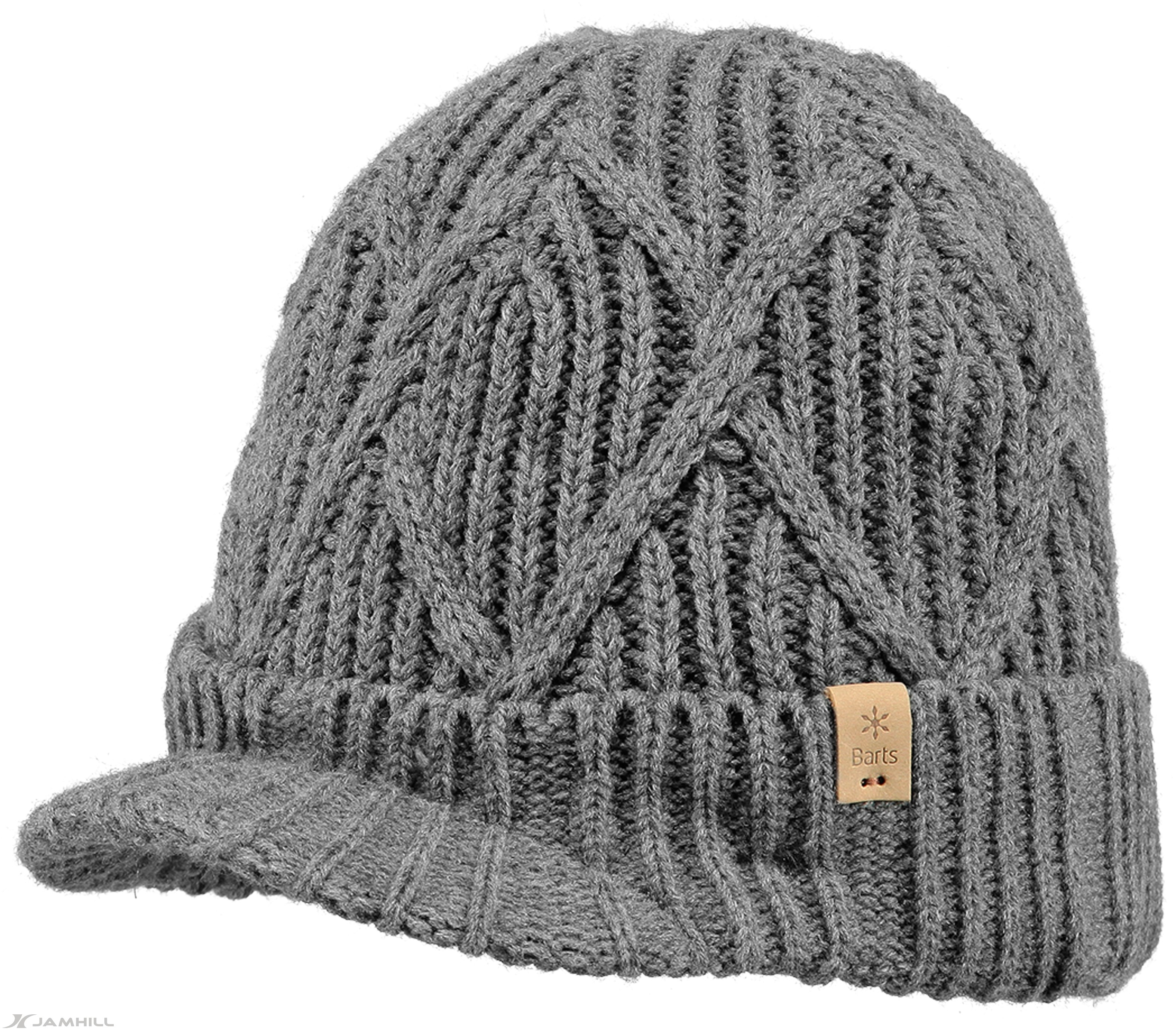 Knitting Pattern For Peaked Beanie : Barts Oscar peaked beanie in patterned knit with fleece ...