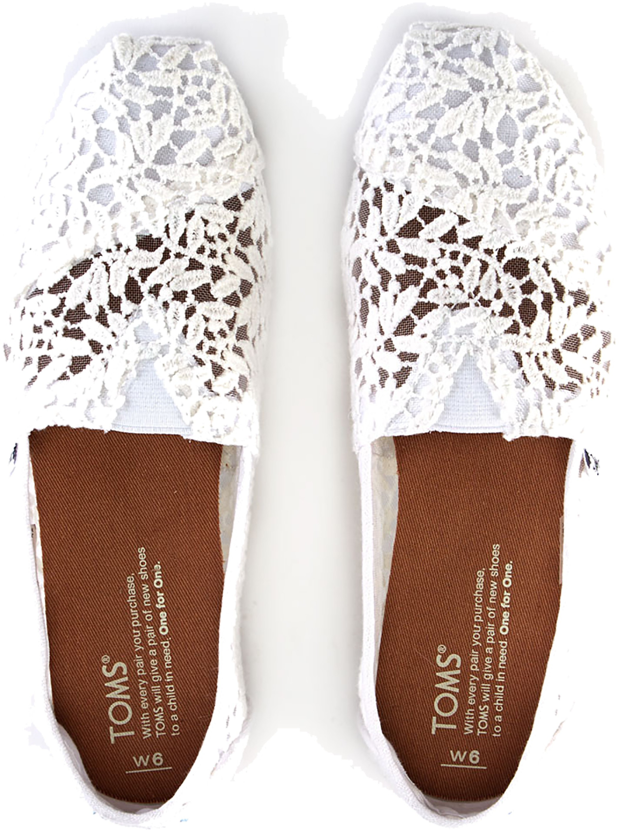 44440cd4b63f Womens Toms Seasonal Classic Slip on White Lace Leaves Flats UK 5. About  this product. Picture 1 of 4  Picture 2 of 4  Picture 3 of 4 ...