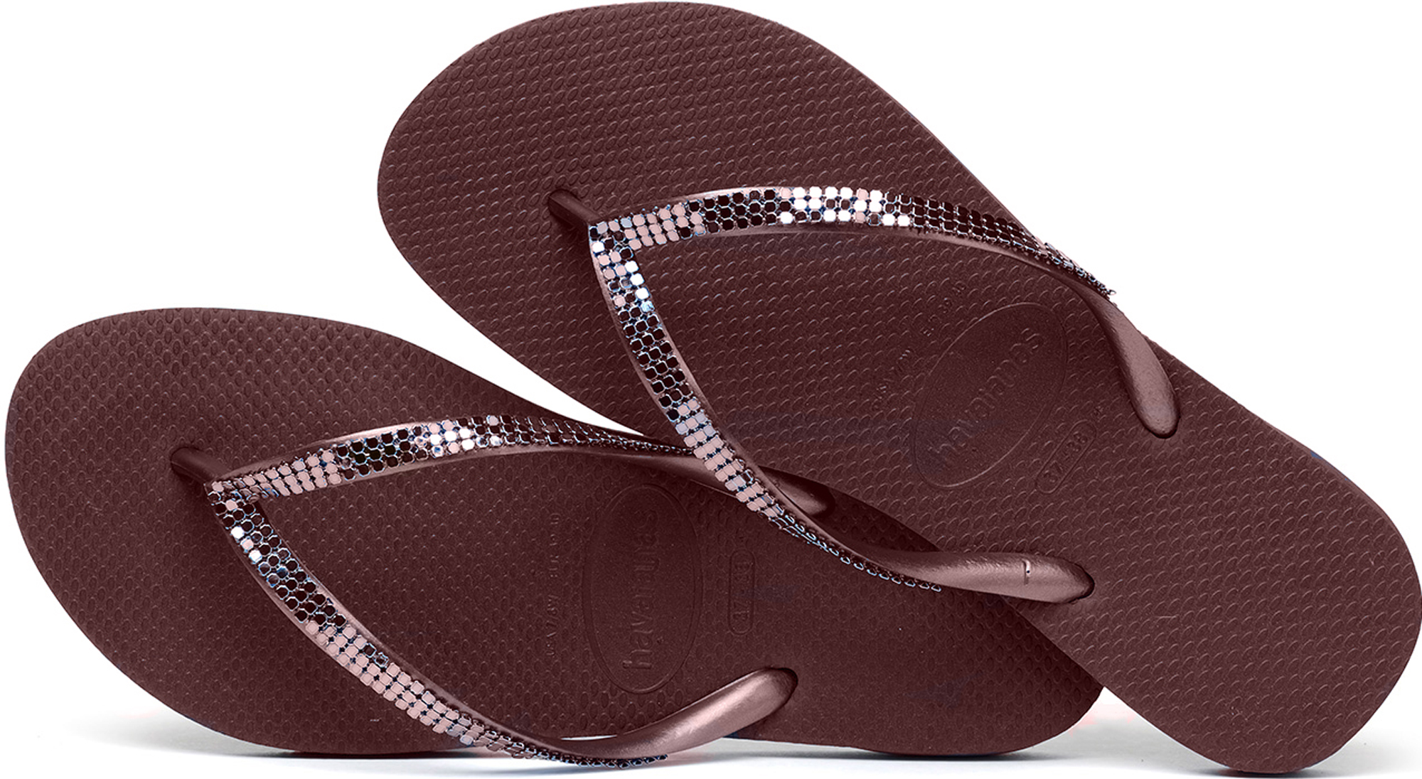 1f63fd3f3c3 Havaianas Slim Metal Mesh Women s Flip Flops. Uk8 Grape Wine 8. About this  product. Picture 1 of 5  Picture 2 of 5  Picture 3 of 5 ...