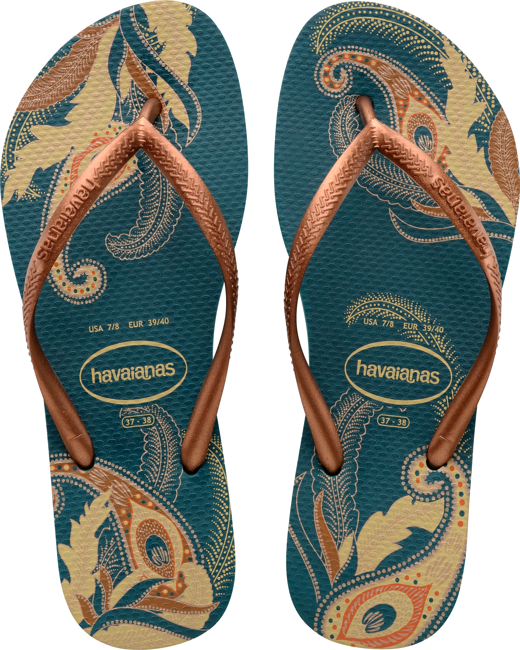 73390983e Havaianas Petroleum Slim Organic Size 8 Flip Flops. About this product.  Picture 1 of 5  Picture 2 of 5 ...