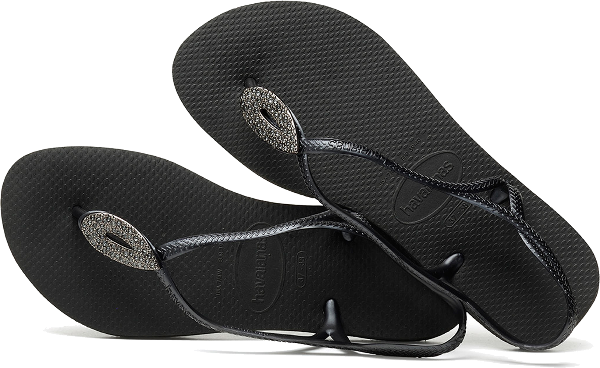 b1b577ae0ac147 Havaianas Luna Special Women s Flip Flops With Heel Strap. Uk8 Black dark  Grey. About this product. Picture 1 of 5  Picture 2 of 5  Picture 3 of 5 ...
