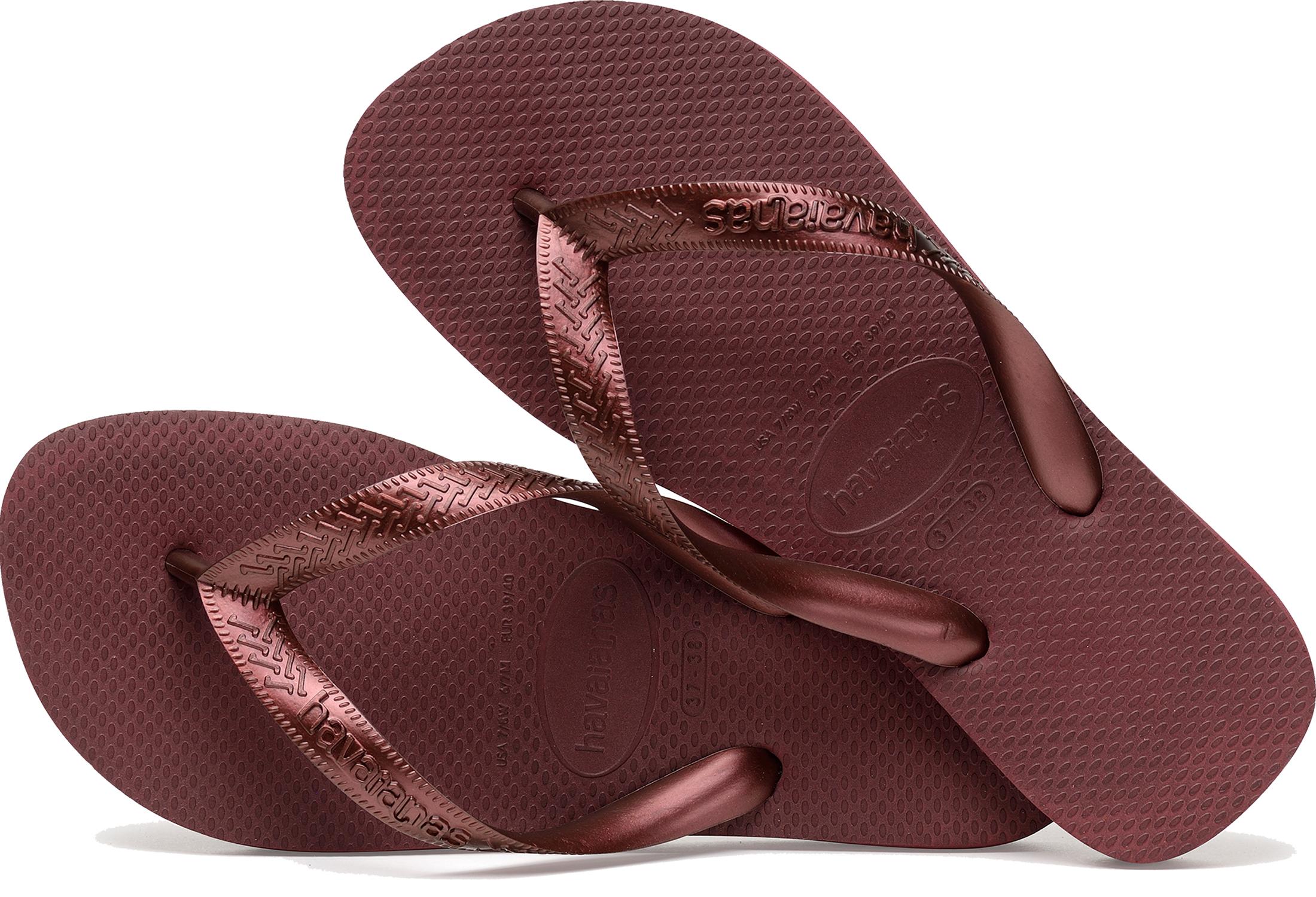 46585705d8c Havaianas Top Tiras Women s Flip Flops Metallic Coloured Strap Day ...
