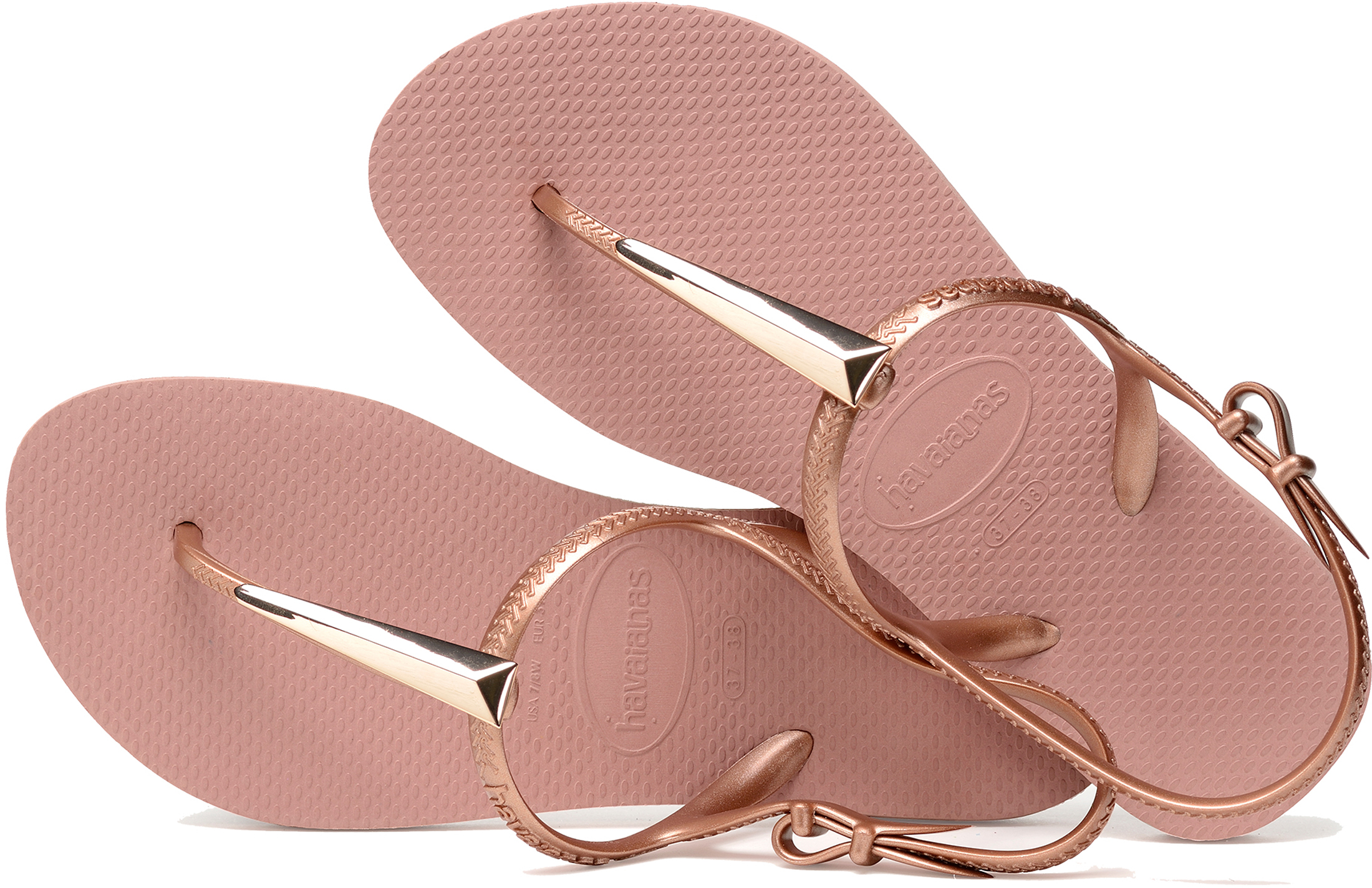 94ece6f8f03467 Havaianas Women s Freedom Maxi Sandals Metal Charm Uk3 4 Crocus Rose. About  this product. Picture 1 of 5  Picture 2 of 5  Picture 3 of 5 ...