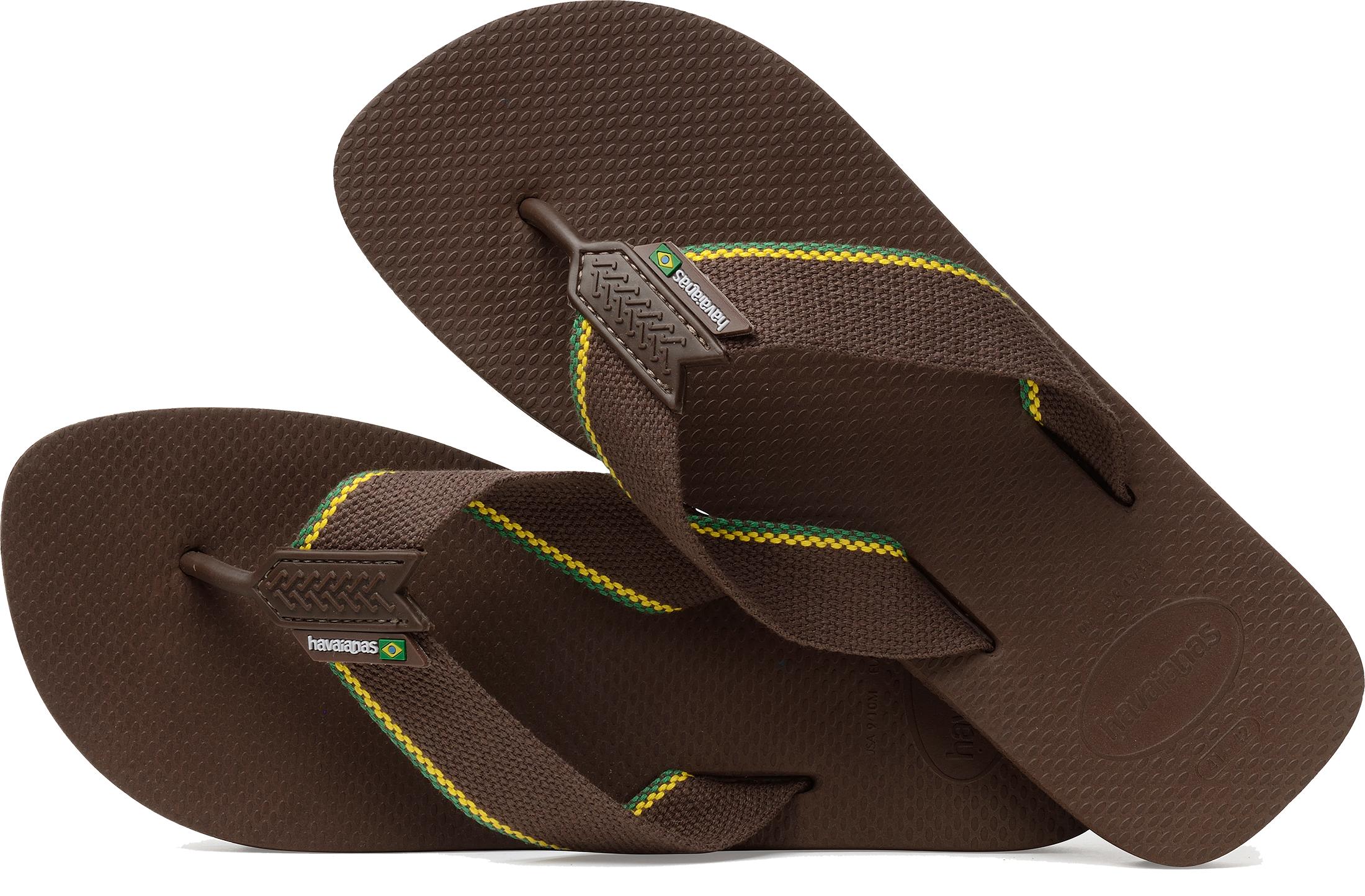 955934ea0d8c55 Havaianas Men s Urban Brazil Flip Flops Uk8 Dark Brown Hv18 ...