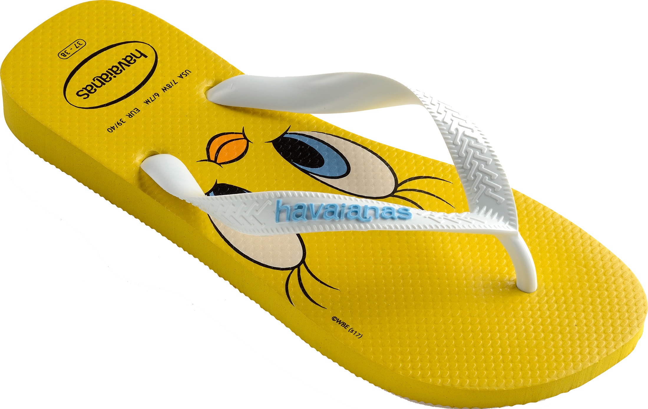 f71d774f1e6e10 Havaianas Looney Tunes Womens Yellow White Rubber Flip Flops - 35-36. About  this product. Picture 1 of 5  Picture 2 of 5  Picture 3 of 5 ...