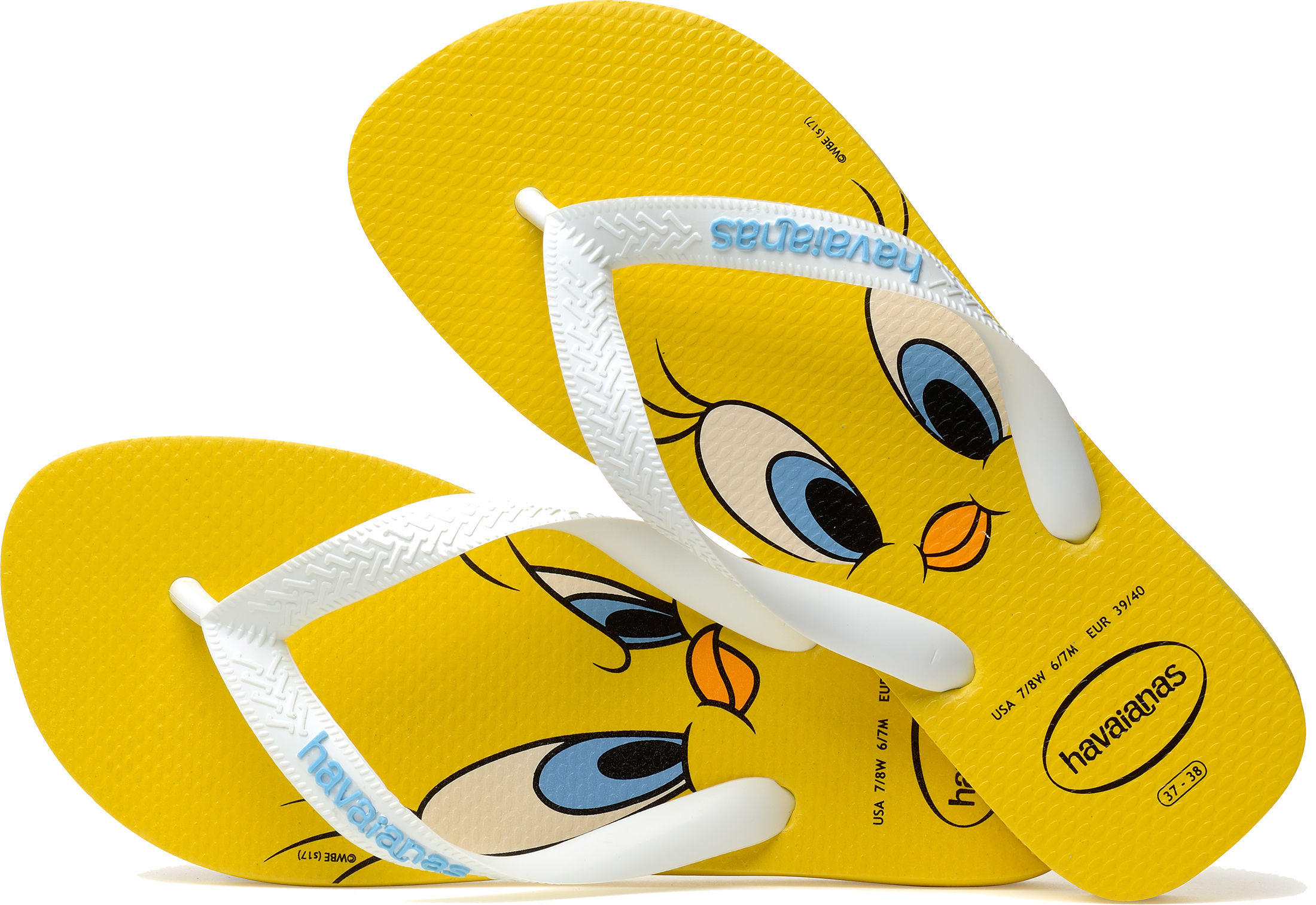 d0133eb9a98791 Havaianas Looney Tunes Womens Yellow White Rubber Flip Flops - 35-36. About  this product. Picture 1 of 5  Picture 2 of 5  Picture 3 of 5  Picture 4 of 5