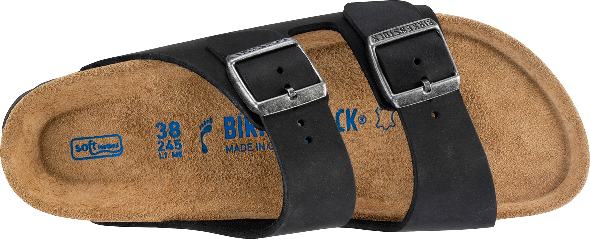4ac70342d14 Birkenstock Women s Arizona Oiled Leather Strap Soft Footbed Narrow Fit  Sandals Uk5 Black. About this product. Picture 1 of 4  Picture 2 of 4   Picture 3 of ...