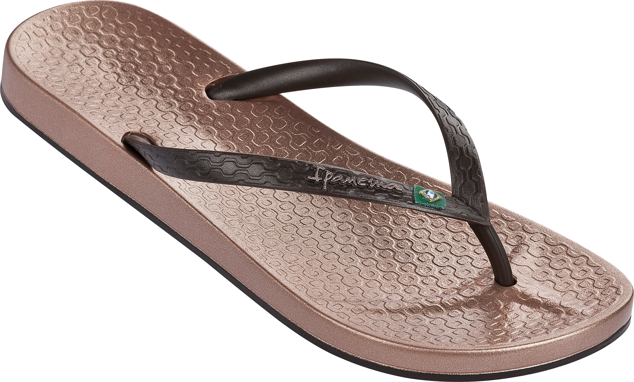 ac051583a08f Ipanema Beach Brasil Flag Slim Footbed Flip Flops Beach Sandals ...