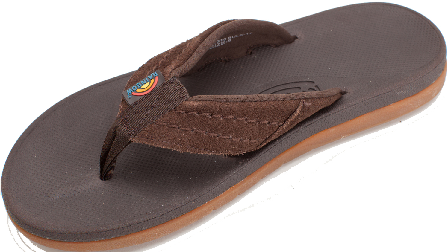 09f7496be2ef Uk12 Dark Brown. About this product. Rainbow East Cape Men s Molded Rubber  Suede Strap Flip Flops. New  Picture 2 of 3 ...