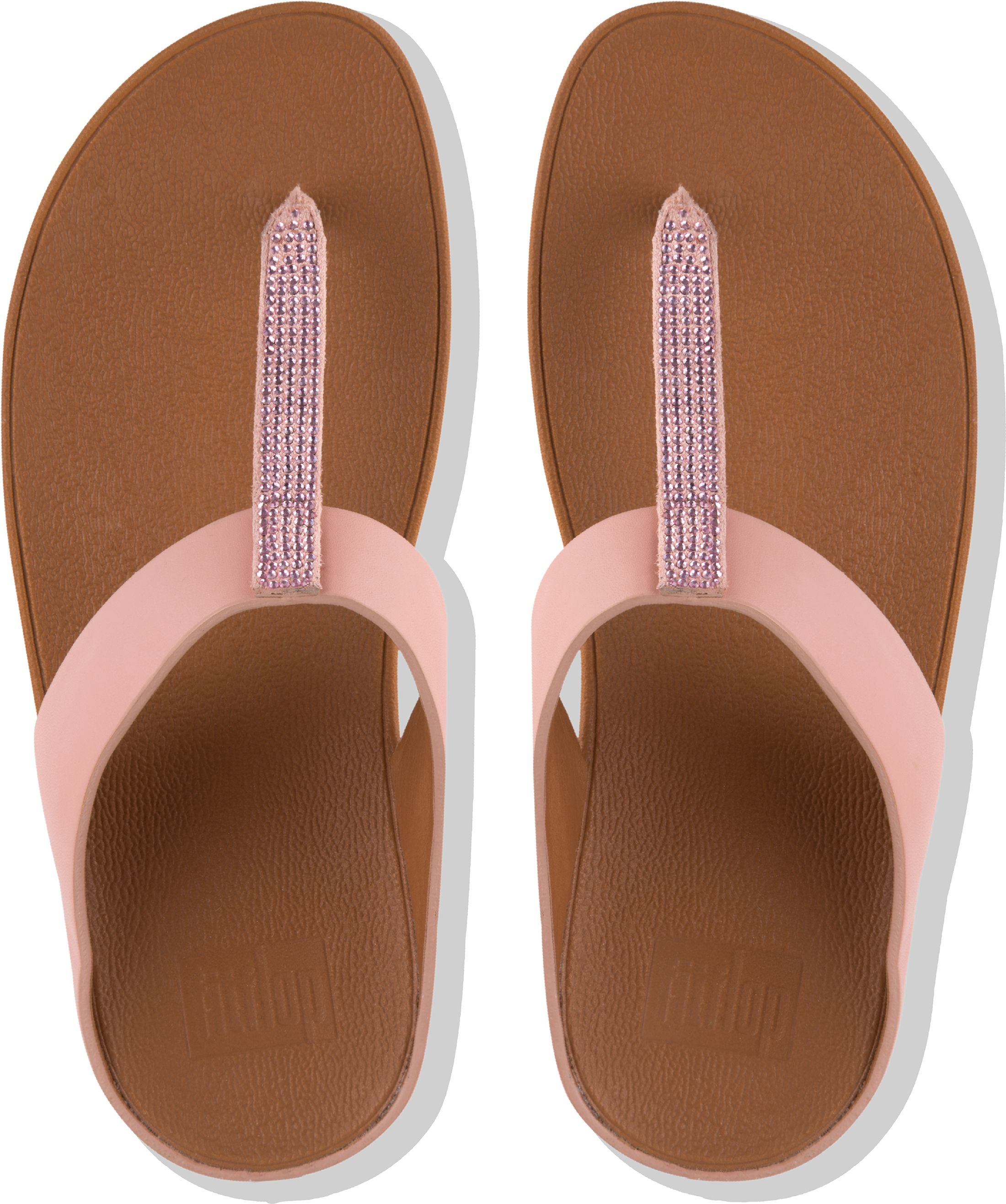 220609026 FitFlop Women s FINO Toe-post Flip Flops Crystal Embellished Strap Uk5  Dusty Pink. About this product. Picture 1 of 4  Picture 2 of 4  Picture 3  of 4 ...