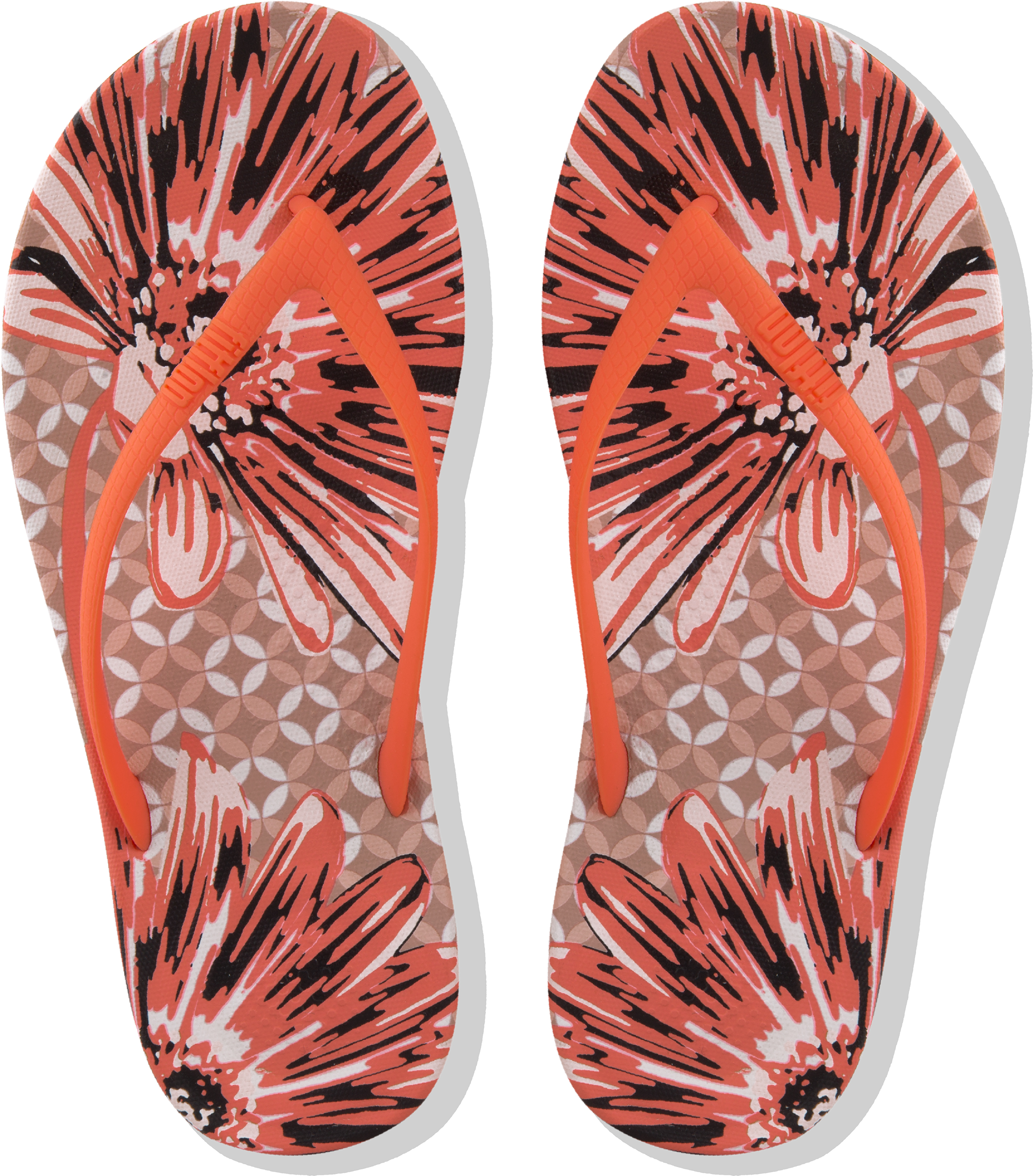 490b1671ad7441 FitFlop Iqushion Ergonomic Flip Flops - Daisy Print Sandals Uk4 Sunshine  Coral. About this product. Picture 1 of 4  Picture 2 of 4  Picture 3 of 4  ...