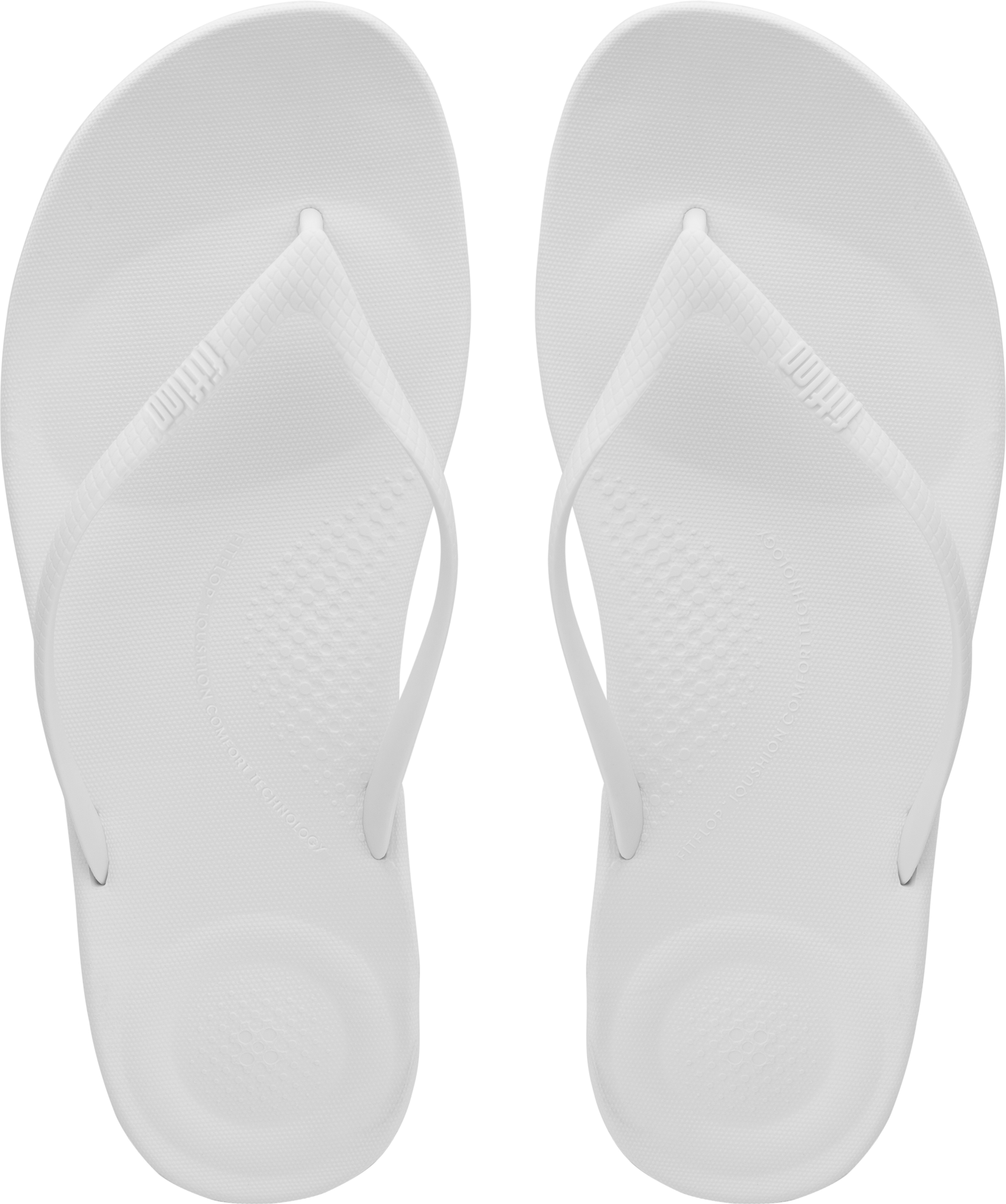 ee8563eb2 FitFlop Women Iqushion Ergonomic Flip-flops Toe Thong Sandals White ...