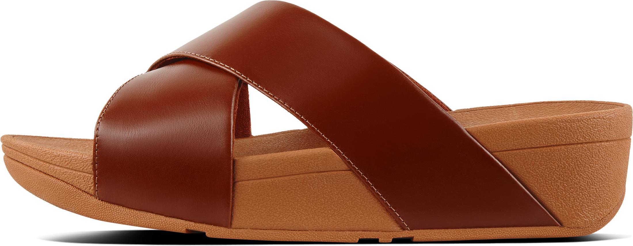 ee96c5d7b391e1 FitFlop Women s Lulu Leather Cross Slide Sandals