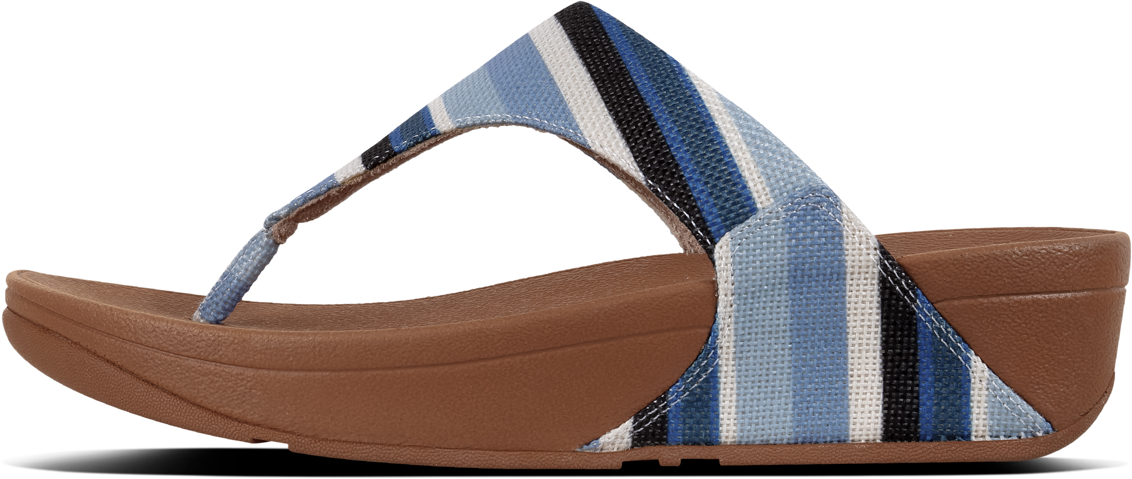 70ec2840e51992 FitFlop Women s Lulu Canvas Toe-thong Sandals Uk4 Blue Stripey. About this  product. Picture 1 of 4  Picture 2 of 4  Picture 3 of 4  Picture 4 of 4