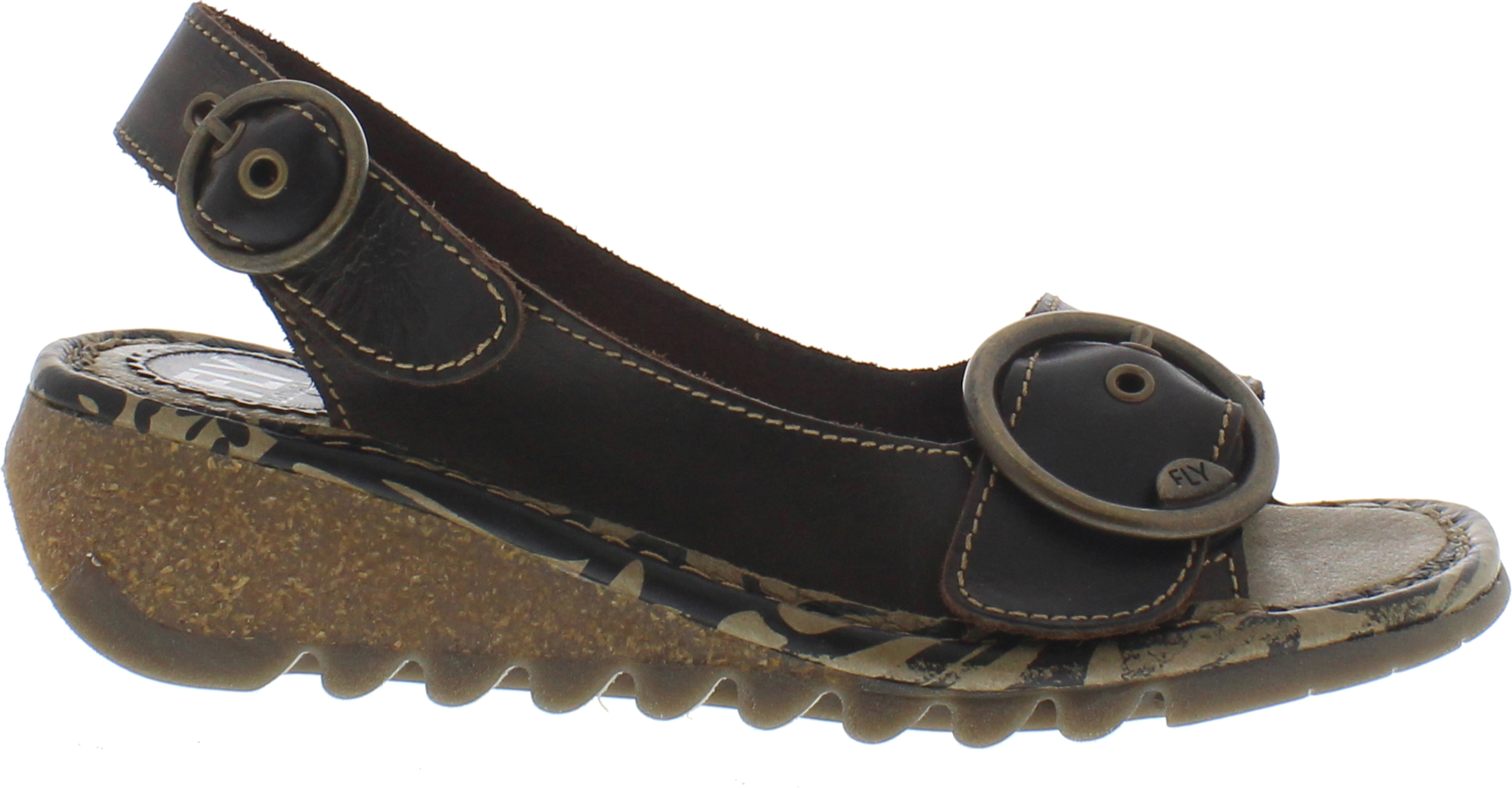 Fly-London-Women-039-s-Tram-Sandals-Adjustable-Straps-with-Metal-Buckle