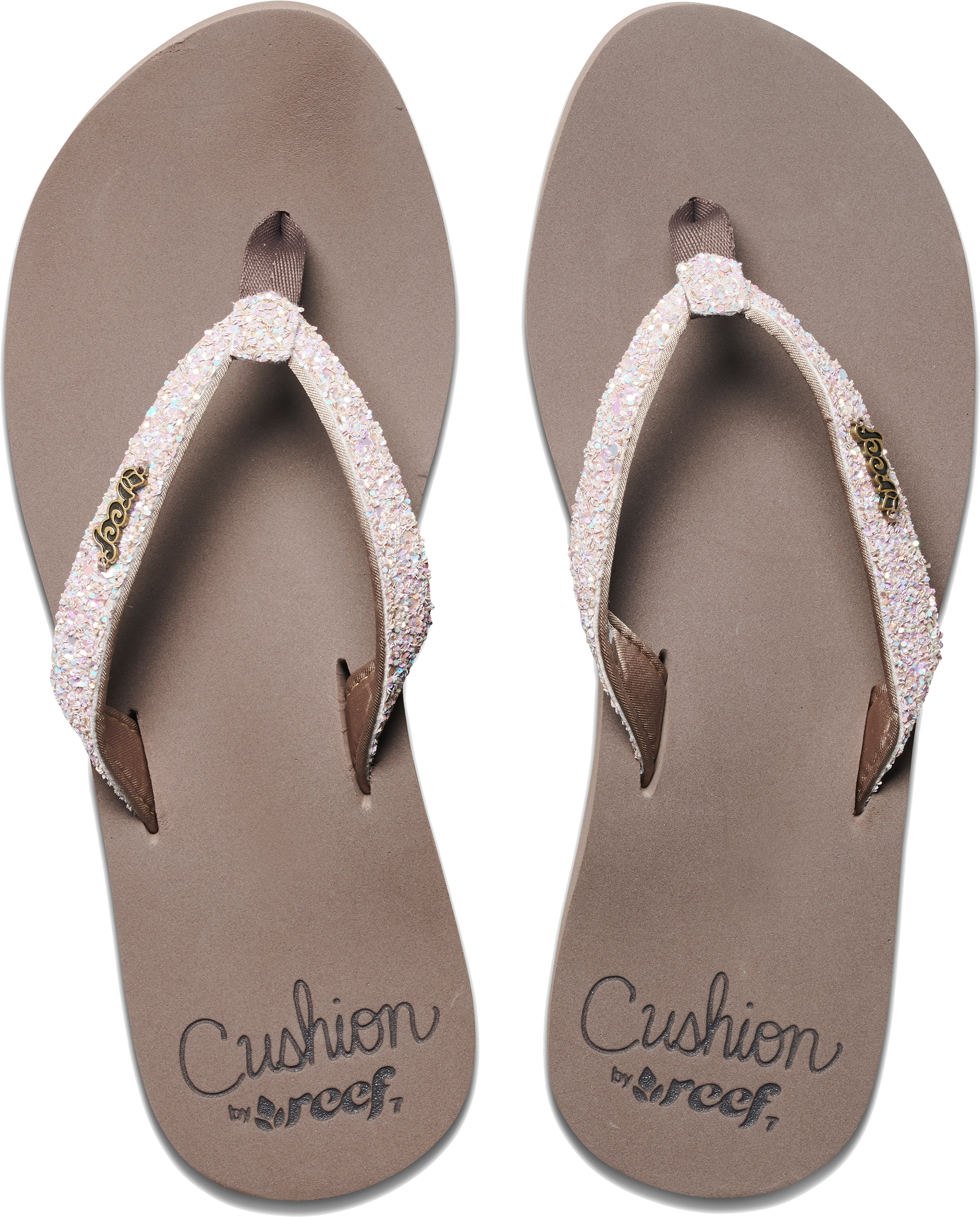 f8ac7ced588a Reef Star Cushion Women s Flip Flops With a Sparkly Satin Lined ...