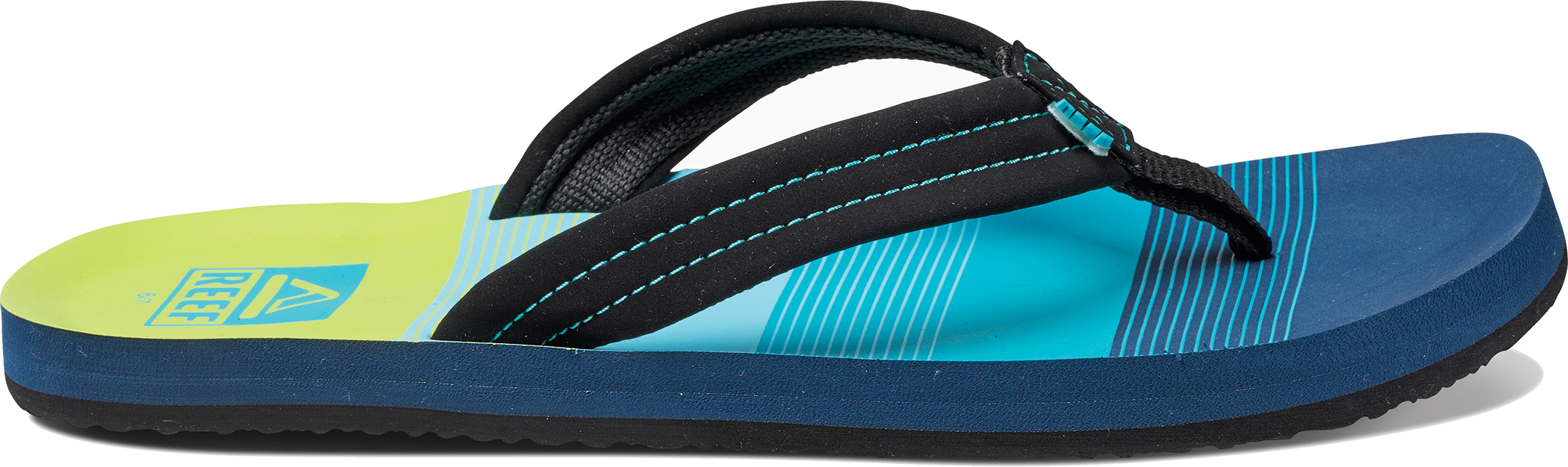 e966535f4ba1 Reef Ahi Kids Summer Beach Flip Flops With Canvas Straps Ukyouth 1 2 Aqua  green. About this product. Picture 1 of 5  Picture 2 of 5  Picture 3 of 5  ...