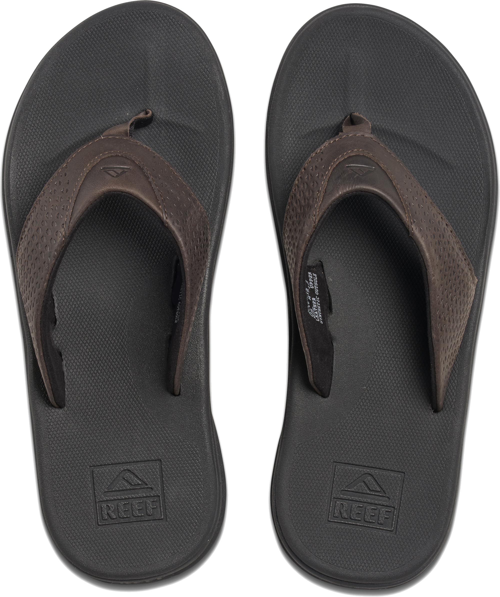 1bb5752cad1f Reef Men s Rover Leather Flip Flops Uk11 Black brown. About this product.  Picture 1 of 5  Picture 2 of 5 ...