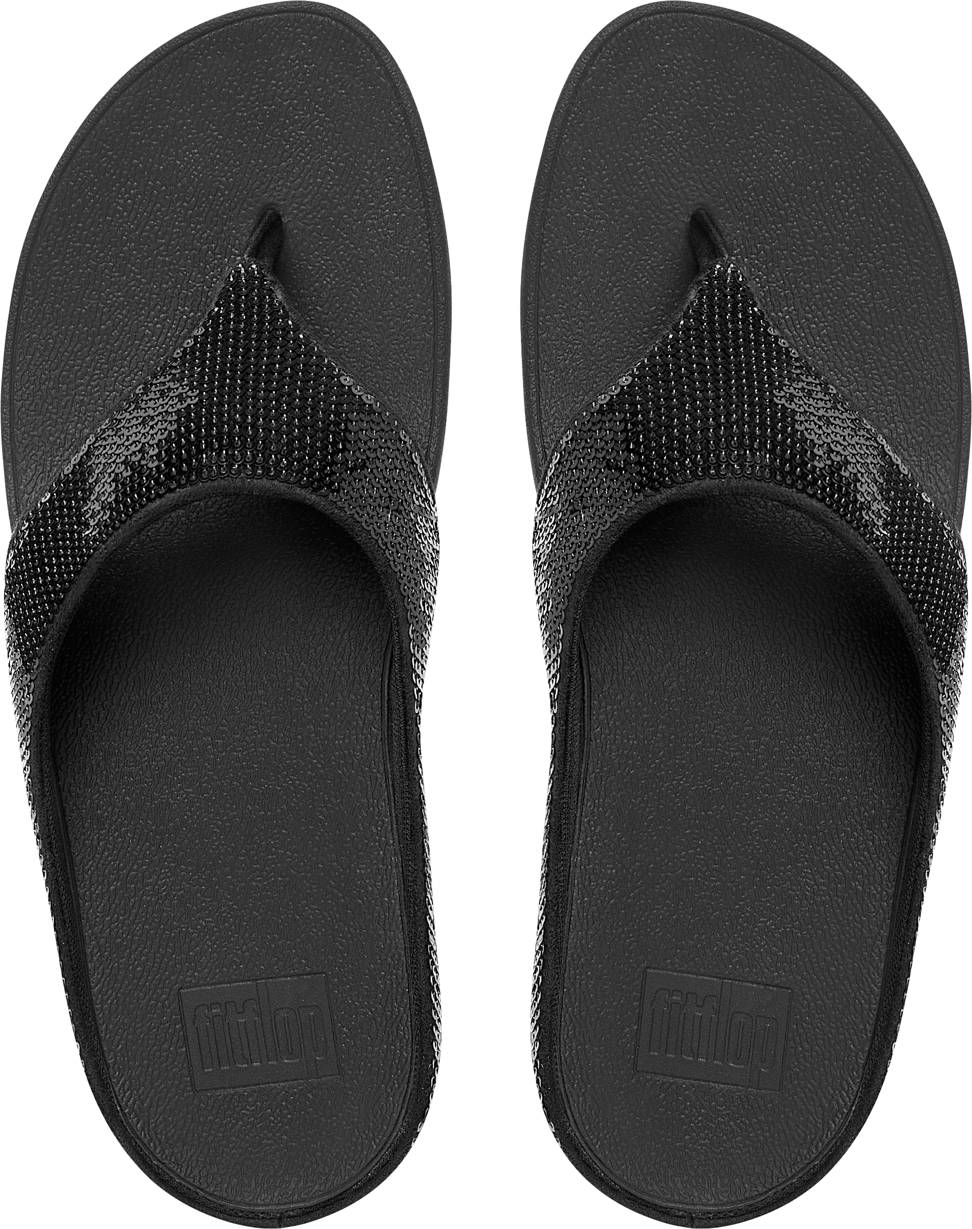 6d3237e03a467 FitFlop Ringer Sequin Toe-post - Black Leather Womens Sandals 6 UK. About  this product. Picture 1 of 4  Picture 2 of 4  Picture 3 of 4 ...