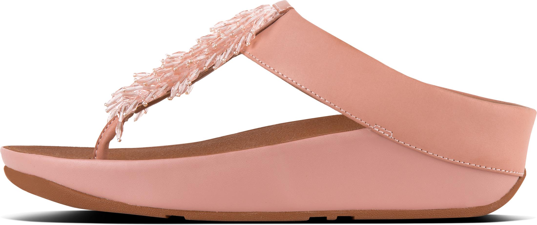 714faf139e0561 FitFlop Rumba Toe-thong Sandals Uk7 Dusky Pink