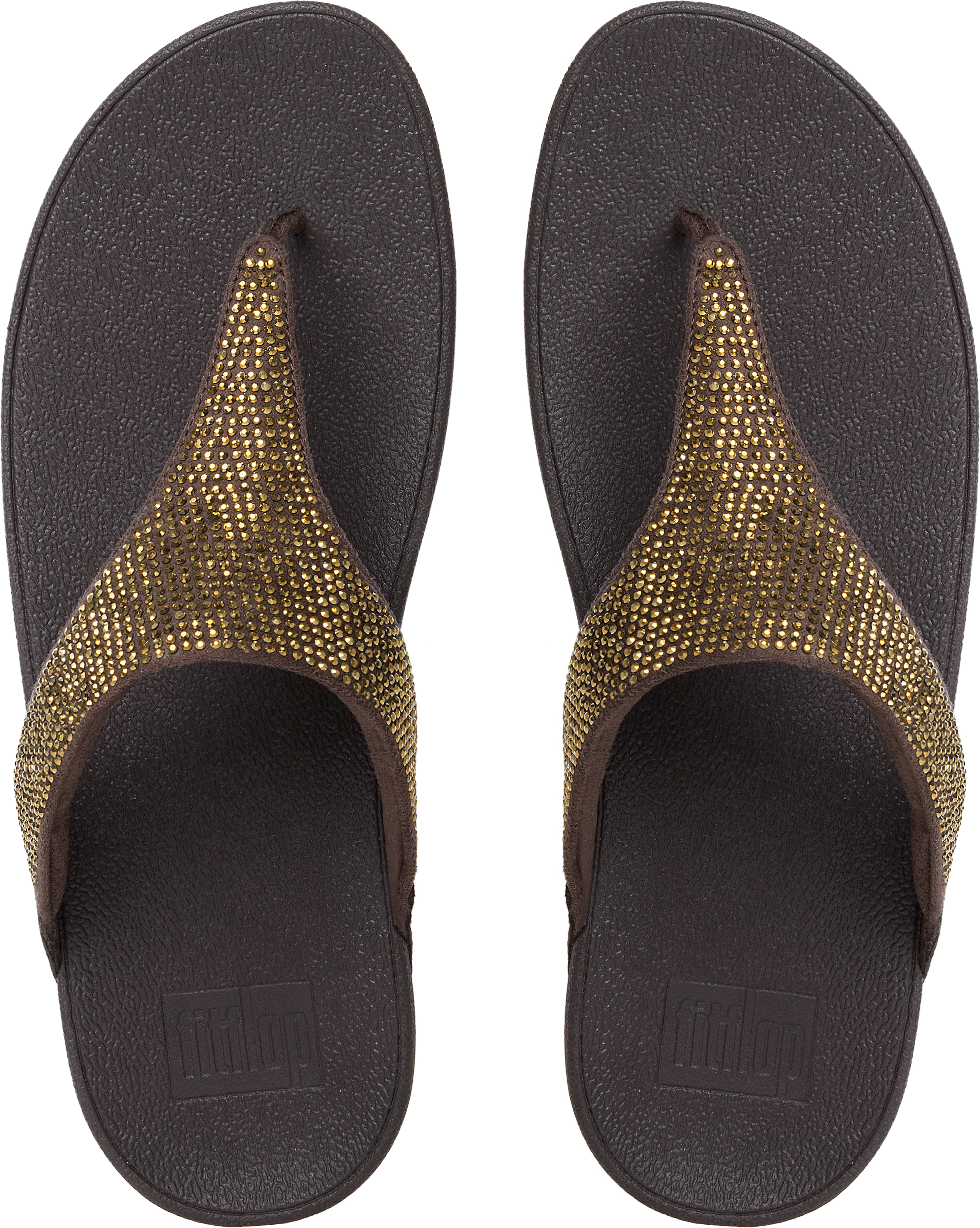 54ee2a1435d FitFlop Women s Slinky Rokkit Toe-post Flip Flops Crystal Detailed Strap  Uk6 Chocolate. About this product. Picture 1 of 4  Picture 2 of 4  Picture  3 of 4 ...